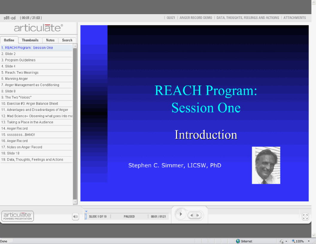 session one--REACH
